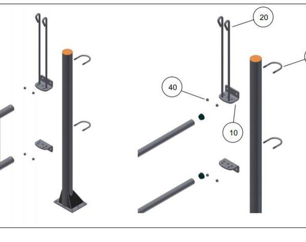 Pinsluiting aan standbuis