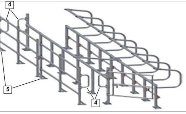 doorloopbeugel voor koebehandelstraat