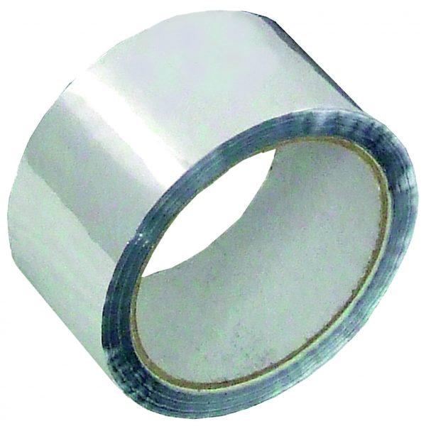 Aluminium tape voor het omwikkelen van kunststof leidingen